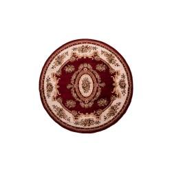 Χαλί Ροτόντα Κλασικό σχέδιο σε μπoρντό χρώμα