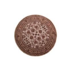 Χαλί Ροτόντα Κλασικό σχέδιο σε καφέ χρώμα