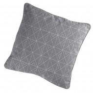 Μαξιλάρι καναπέ Quadris γκρι - ασημί 40x40cm