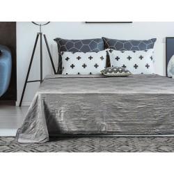 Κουβέρτα ζακάρ Art 1348 με δαντέλα υπέρδιπλη σε 5 χρώματα  230x250  Smoke