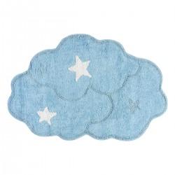 Χαλί βαμβακερό Cottony Art 9550 80x120 Σιέλ