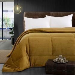 Κουβερτοπάπλωμα μονό Art 11054 160x240 Κίτρινο Beauty Home