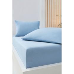 Σεντόνι με λάστιχο 100x200+30 σε 6 χρώματα Art 1382 - 100x200+30 Γαλάζιο Beauty Home