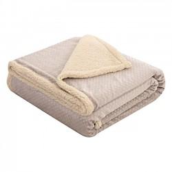 Κουβέρτα μονή Art 1711  160x240  Εκρού