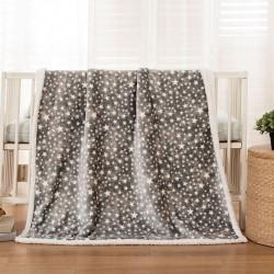 Κουβέρτα βρεφική 80x110 σε 3 χρώματα Art 5136 - 80x110 Γκρι Beauty Home