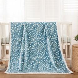 Κουβέρτα βρεφική 110x140 σε 3 χρώματα Art 5136 - 110x140 Γαλάζιο Beauty Home
