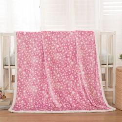 Κουβέρτα βρεφική 110x140 σε 3 χρώματα Art 5136 - 110x140 Ροζ Beauty Home