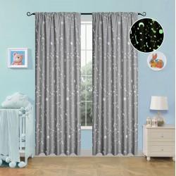 Κουρτίνα φωσφορίζουσα με τρέσα Art 6141 γκρι - 140x270 Γκρι Beauty Home