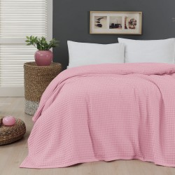 Πικέ μονή waffle Art 1990 Pink - 170x240 Ροζ Beauty Home