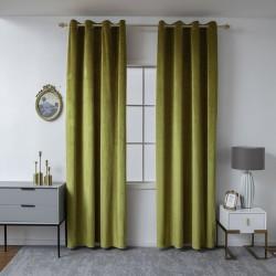 Κουρτίνα βελούδο σκίασης με 8 κρίκους Art 8399 - 140x270 - Χρυσαφί Beauty Home
