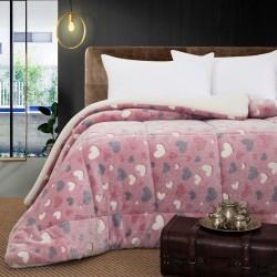 Κουβερτοπάπλωμα μονό φωσφοριζέ Art 6153 -160x220 - Ροζ Beauty Home