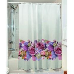 Κουρτίνα μπάνιου Caliber Art 3066 190x180 Εμπριμέ Beauty Home