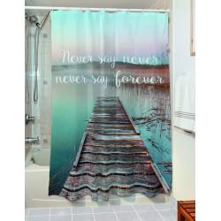 Κουρτίνα μπάνιου Maxim Art 3183 190x180 Γαλάζιο Beauty Home