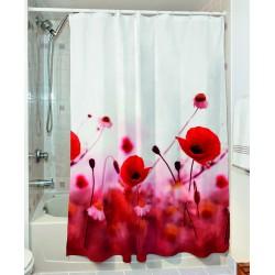 Κουρτίνα μπάνιου Poppies Art 3067 190x180 Κόκκινο Beauty Home