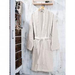Μπουρνούζι με γιακά ζακάρ Art 3180  Μπεζ - M Beauty Home