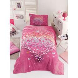 Σετ σεντόνια μονά Cult Art 6112  160x240  Ροζ Beauty Home