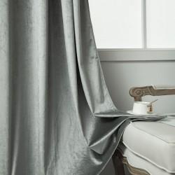 Κουρτίνα βελούδο σκίασης με 8 κρίκους Art 8399 - 140x270 - Ασημί Beauty Home