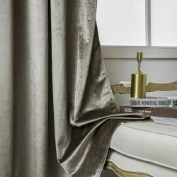 Κουρτίνα βελούδο σκίασης με 8 κρίκους Art 8399 - 140x270 - Μπεζ Beauty Home