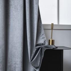Κουρτίνα βελούδο σκίασης με 8 κρίκους Art 8399 - 140x270 - Γκρι Beauty Home